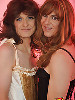 Two naughty TGirls gets to play with special guest Nylon Jane.