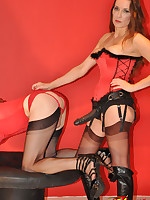 Three naughty TGirls all get to have a bit of fun with guest Strapon Jane.