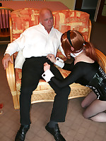 Slutty Lucimay dresses up and sucks a big cock hard