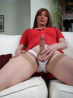 Lucimay pulls hard on her big fat cock